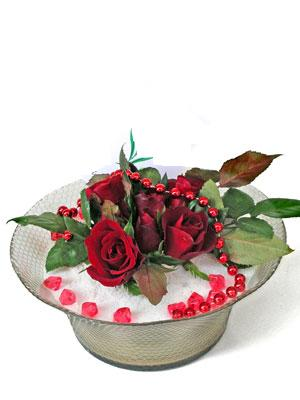 Ordu çiçekçiler  EN ÇOK Sevenlere 7 adet kirmizi gül mika yada cam tanzim