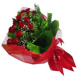Ordu çiçek servisi , çiçekçi adresleri  12 adet kirmizi essiz gül buketi - SEVENE ÖZEL