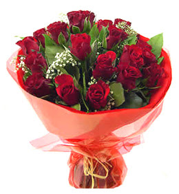 Ordu uluslararası çiçek gönderme  11 adet kimizi gülün ihtisami buket modeli