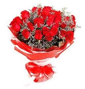 Ordu çiçek online çiçek siparişi  12 adet kırmızı güllerden görsel buket