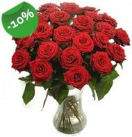 Vazo içerisinde 25 adet kırmızı gül  Ordu çiçek siparişi vermek