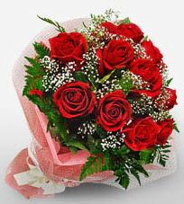 12 adet kırmızı güllerden kaliteli gül  Ordu çiçekçiler
