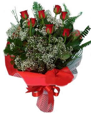 7 kırmızı gül buketi  Ordu hediye sevgilime hediye çiçek