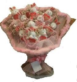 12 adet tavşan buketi  Ordu çiçek online çiçek siparişi