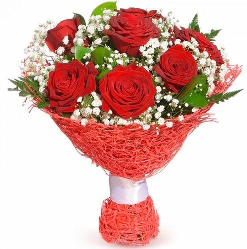 7 adet kırmızı gül buketi  Ordu çiçek siparişi sitesi