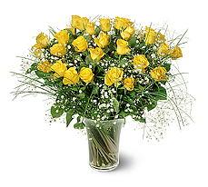 Ordu hediye çiçek yolla  15 adet sarigül mika yada cam vazoda