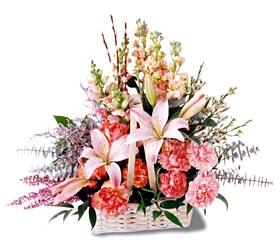 Ordu hediye çiçek yolla  mevsim çiçekleri sepeti özel tanzim