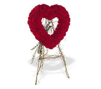 Ordu çiçekçi mağazası  karanfillerden kalp pano