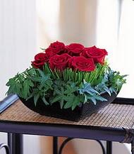 Ordu hediye çiçek yolla  10 adet kare mika yada cam vazoda gül tanzim