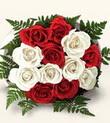 Ordu çiçekçi telefonları  10 adet kirmizi beyaz güller - anneler günü için ideal seçimdir -