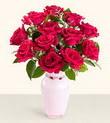 Ordu çiçek , çiçekçi , çiçekçilik  10 kirmizi gül cam yada mika vazo tanzim