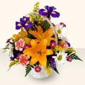 Ordu cicekciler , cicek siparisi  sepet içinde karisik çiçekler