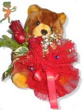 oyuncak ayi ve gül tanzim  Ordu çiçek siparişi sitesi