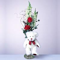 2 adet gül ve panda özel  Ordu ucuz çiçek gönder
