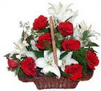 sepette gül ve kazablankalar   Ordu ucuz çiçek gönder