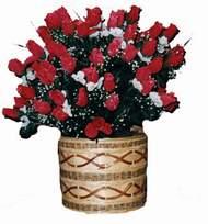 yapay kirmizi güller sepeti   Ordu çiçek servisi , çiçekçi adresleri