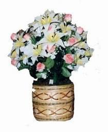yapay karisik çiçek sepeti   Ordu hediye sevgilime hediye çiçek