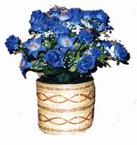 yapay mavi çiçek sepeti  Ordu online çiçek gönderme sipariş