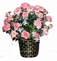 yapay karisik çiçek sepeti  Ordu anneler günü çiçek yolla