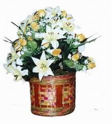 yapay karisik çiçek sepeti   Ordu online çiçek gönderme sipariş