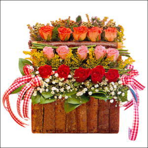 sandikta 3 kat güllerden   Ordu online çiçek gönderme sipariş