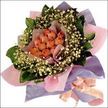11  adet  gül ve   elyaflar   Ordu ucuz çiçek gönder