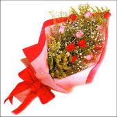 12 adet renkli  gül buketi   Ordu ucuz çiçek gönder