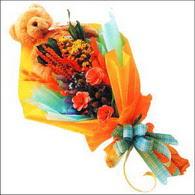 ayicik gül ve kir çiçekleri   Ordu ucuz çiçek gönder
