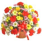 karisik renkli çiçek sepet   Ordu çiçek yolla , çiçek gönder , çiçekçi