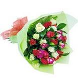12 adet renkli gül buketi   Ordu çiçek yolla , çiçek gönder , çiçekçi
