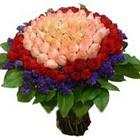71 adet renkli gül buketi   Ordu çiçek satışı