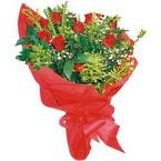 10 adet kirmizi gül buketi  Ordu İnternetten çiçek siparişi
