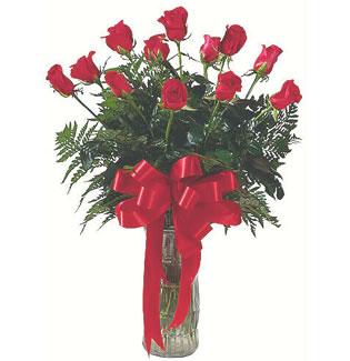 12 adet gül cam içerisinde  Ordu online çiçek gönderme sipariş