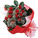 Ordu çiçekçi mağazası  KIRMIZI AMBALAJ BUKETINDE 12 ADET GÜL