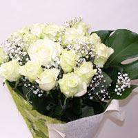 Ordu çiçek , çiçekçi , çiçekçilik  11 adet sade beyaz gül buketi