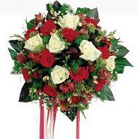 Ordu çiçek satışı  6 adet kirmizi 6 adet beyaz ve kir çiçekleri buket