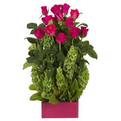 12 adet kirmizi gül aranjmani  Ordu çiçek online çiçek siparişi