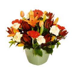 mevsim çiçeklerinden karma aranjman  Ordu yurtiçi ve yurtdışı çiçek siparişi