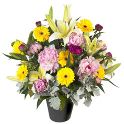 karisik mevsim çiçeklerinden vazo tanzimi  Ordu cicek , cicekci