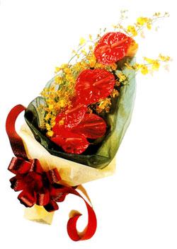 özel 5 adet antorium buketi   Ordu çiçek yolla , çiçek gönder , çiçekçi