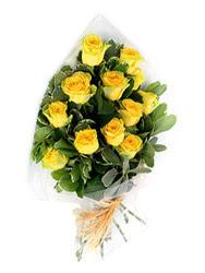 Ordu çiçek mağazası , çiçekçi adresleri  12 li sari gül buketi.