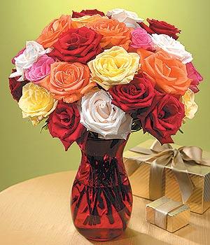 Ordu uluslararası çiçek gönderme  13 adet renkli gül
