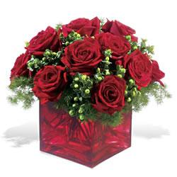 Ordu İnternetten çiçek siparişi  9 adet kirmizi gül cam yada mika vazoda