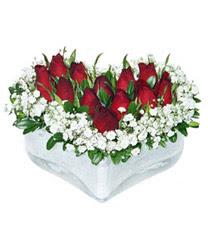 Ordu internetten çiçek satışı  mika kalp içerisinde 9 adet kirmizi gül