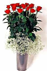 Ordu çiçek siparişi vermek  9 adet kirmizi gül cam yada mika vazoda