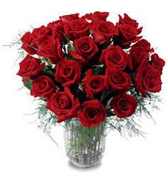 Ordu çiçek yolla , çiçek gönder , çiçekçi   11 adet kirmizi gül cam yada mika vazo içerisinde