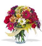 Ordu çiçekçi telefonları  cam yada mika vazo içerisinde karisik kir çiçekleri