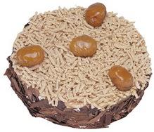 Kestahaneli yas pasta 4 ile 6 kisilik pasta  Ordu hediye çiçek yolla