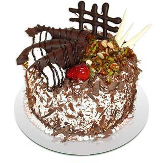 4 ile 6 kisilik çikolatali yas pasta  Ordu çiçek servisi , çiçekçi adresleri