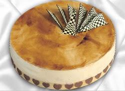 taze pasta 4 ile 6 kisilik yas pasta karamelli yaspasta  Ordu çiçek siparişi sitesi